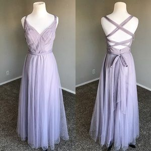 {Anthropologie:Hitherto} Lavender Tulle Maxi Dress